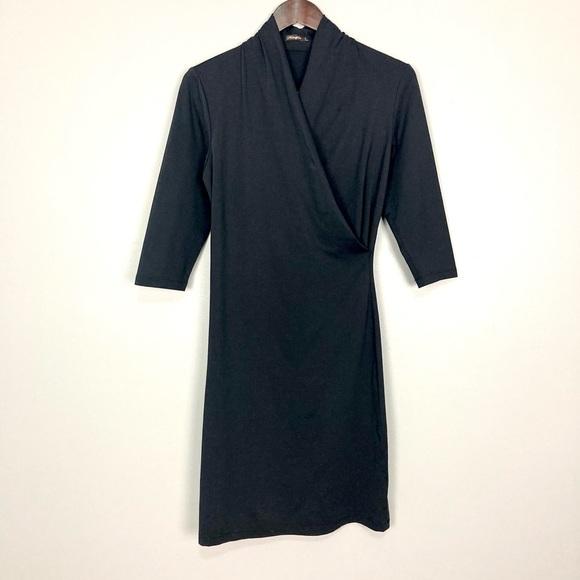 J. McLaughlin Catalina Knit Dress Surplice Wrap
